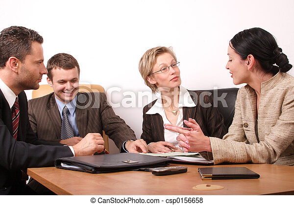 4 business people - csp0156658