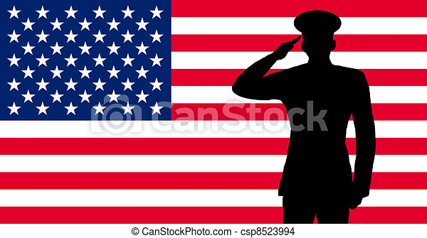 A american soldier saluting - csp8523994