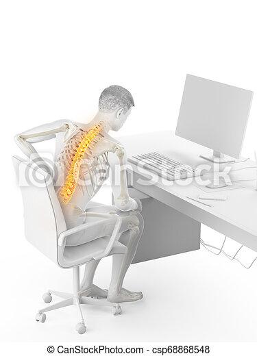 a man having a backache - csp68868548