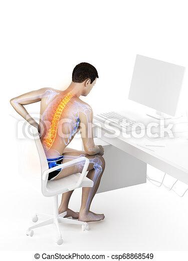 a man having a backache - csp68868549