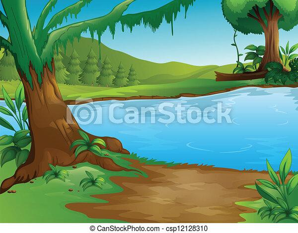 A river - csp12128310