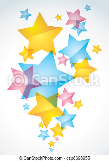 Abstract background with stars - csp8698955