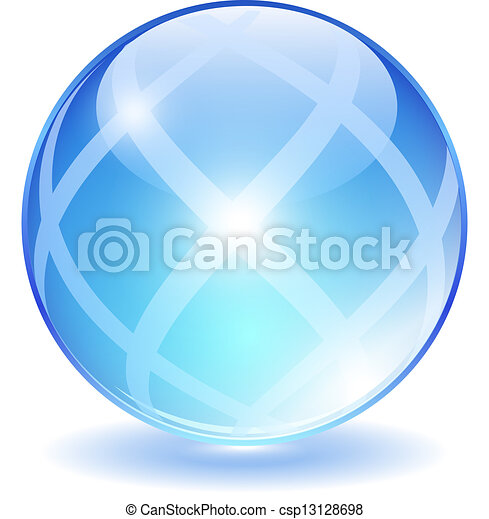 Abstract glass ball - csp13128698