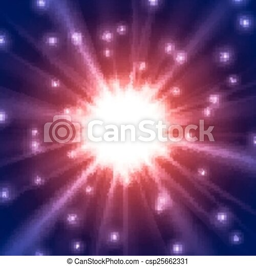 Abstract glowing vector background - csp25662331