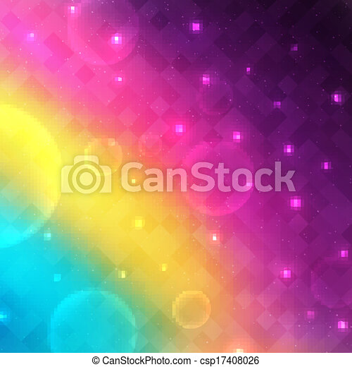 Abstract glowing vector background with transparent bubbles - csp17408026