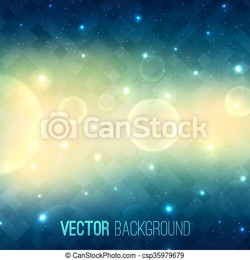 Abstract glowing vector background with transparent bubbles - csp35979679