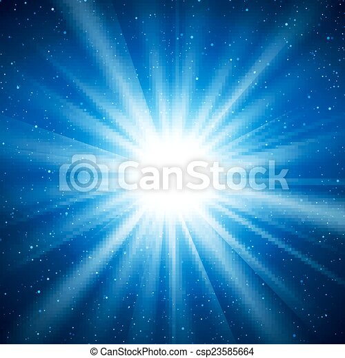 Abstract vector background with burst in space - csp23585664