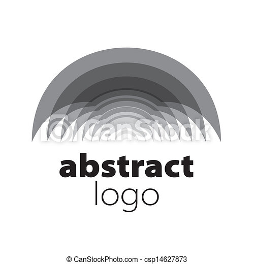 abstract vector logo spectrum curved sheets - csp14627873