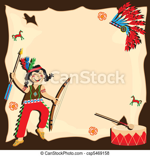 American Indian party invitation - csp5469158