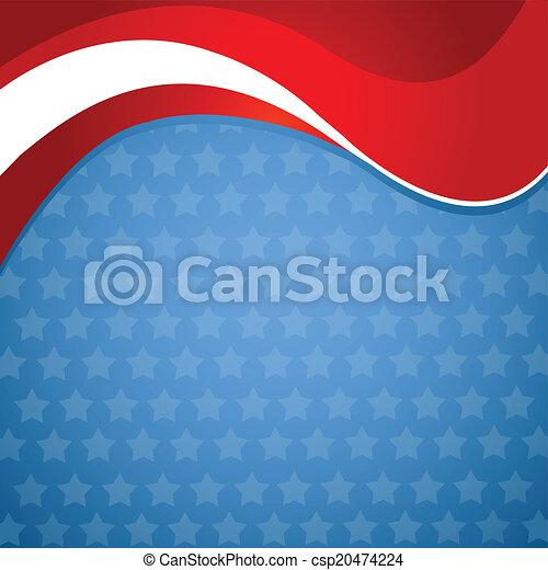 American patriotic background - csp20474224