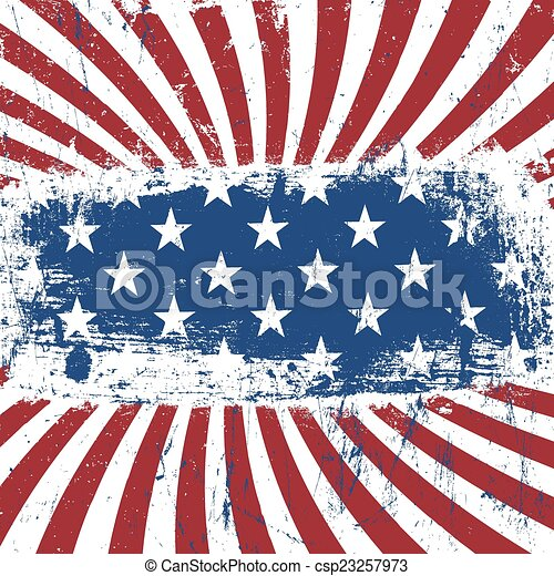 American patriotic vintage background. Vector, EPS10 - csp23257973