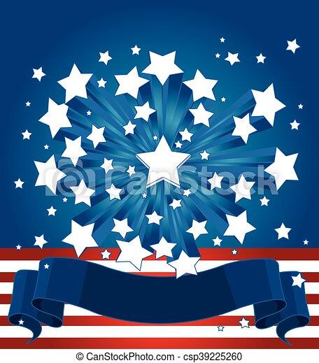American Starburst Background - csp39225260