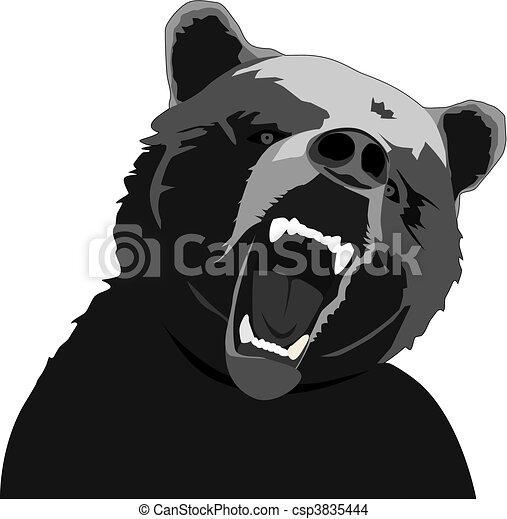 angry bear - csp3835444