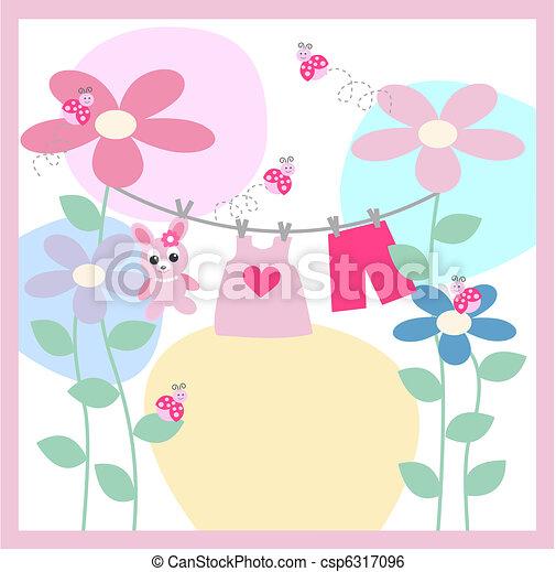 baby announcement card - csp6317096