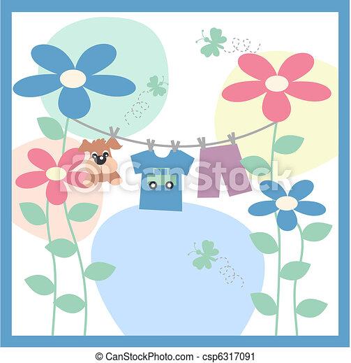 baby announcement card - csp6317091