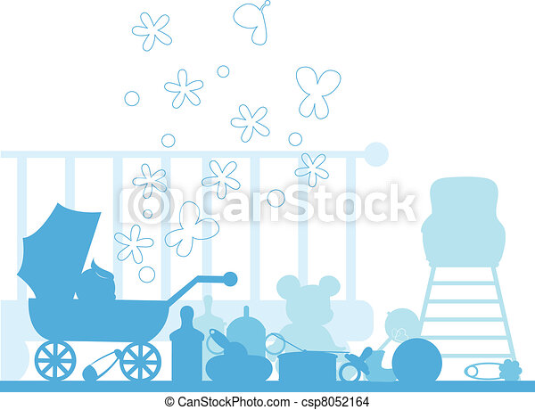 baby arrival and announcements card collection - csp8052164
