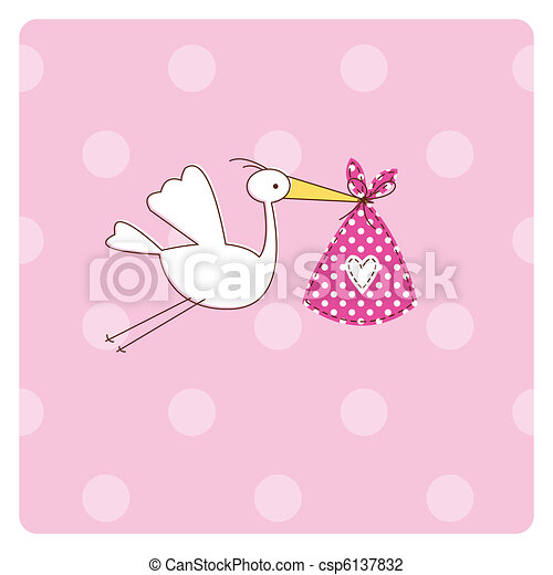 Baby arrival card - csp6137832