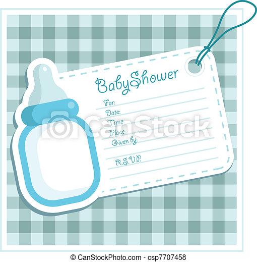 Baby Boy Shower card. - csp7707458