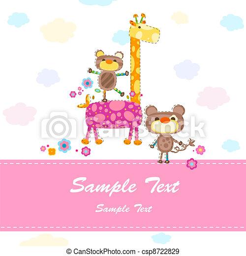 baby invitation card - csp8722829