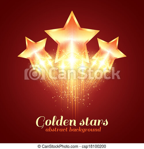 Background with glowing golden stars - csp18100200