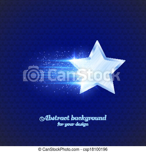 Background with glowing star - csp18100196