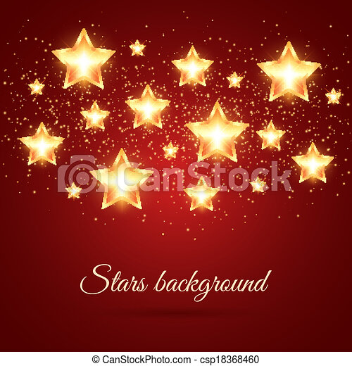 Background with Glowing Stars - csp18368460