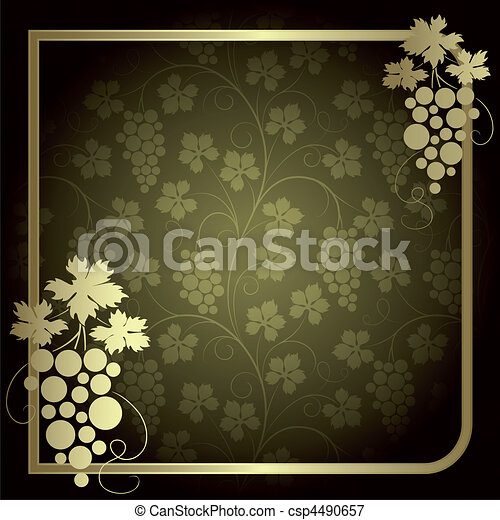 Background with vine - csp4490657