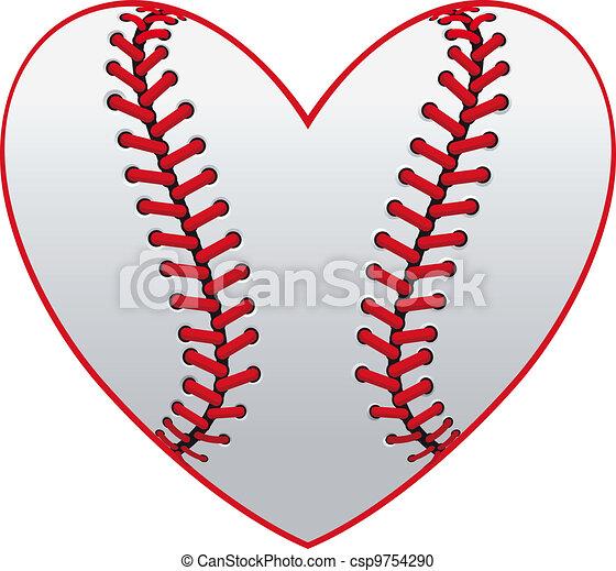Baseball heart - csp9754290