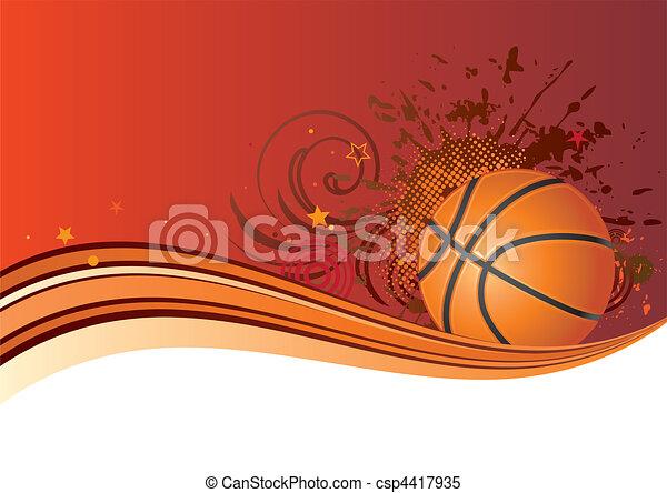 basketball background - csp4417935