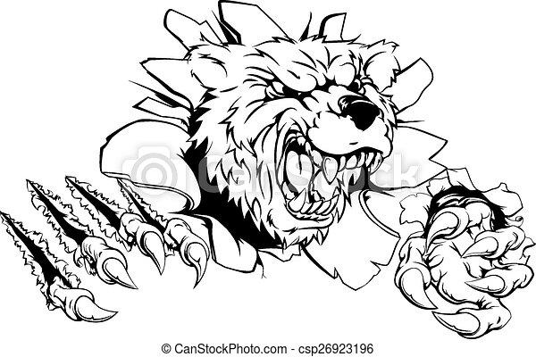 Bear claw breakthrough - csp26923196