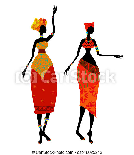 Beautiful African woman in traditional costume - csp16025243