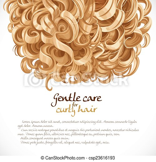 Blond curled hair background - csp23616193