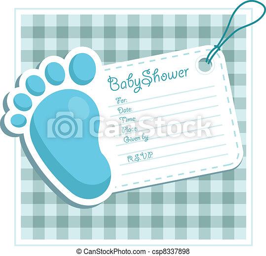 Blue Baby Shower Invitation - csp8337898