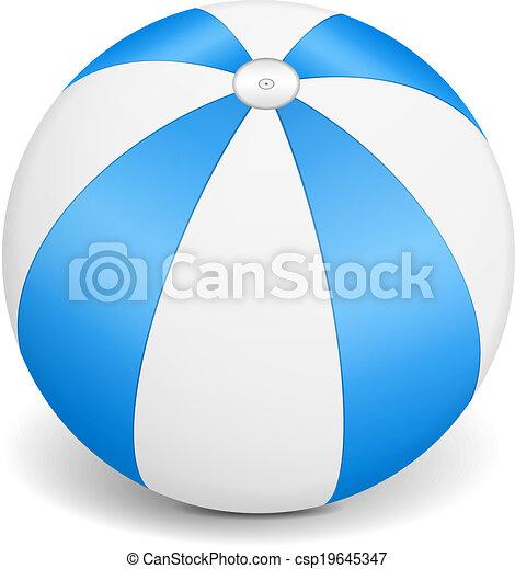 Blue Beach Ball - csp19645347