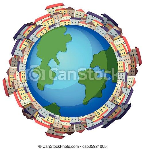Buildings around the world - csp35924005