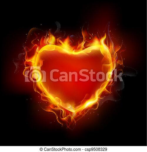 Burning Heart - csp9508329
