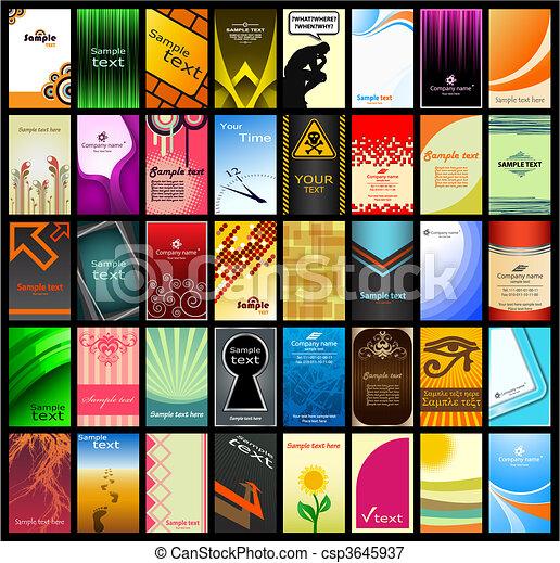 Business card (set 13) - csp3645937