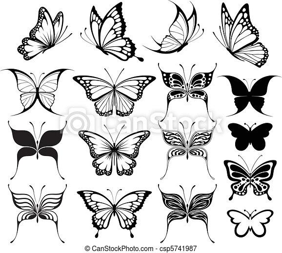 butterfly clipart - csp5741987