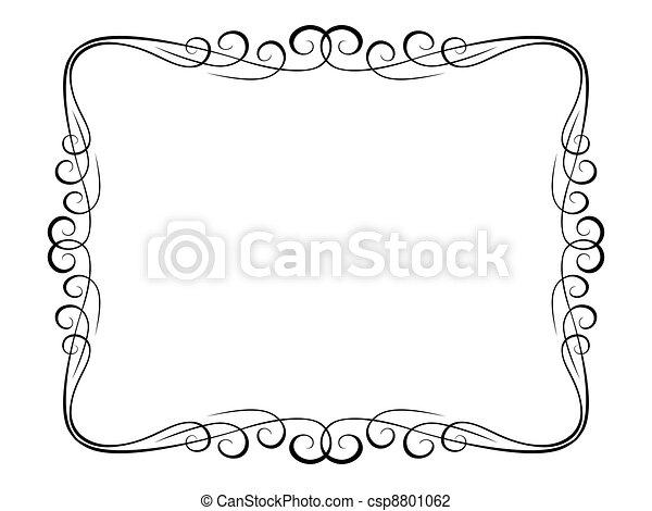 calligraphy ornamental decorative frame - csp8801062