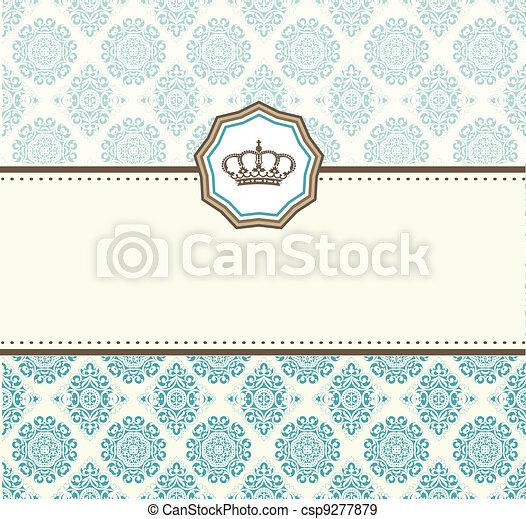 card baroque - csp9277879