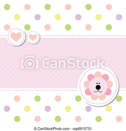 card design baby arrival announcement card - csp6915731