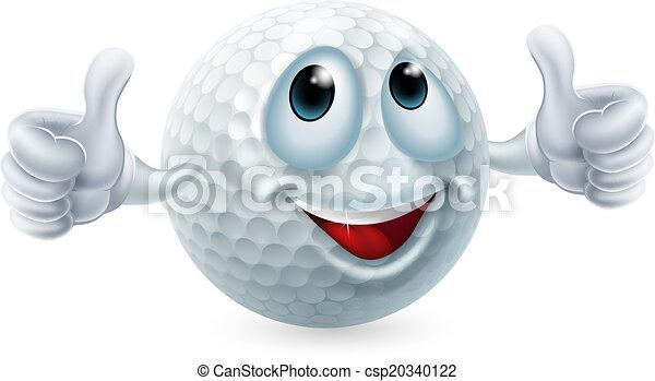 Cartoon golf ball character - csp20340122
