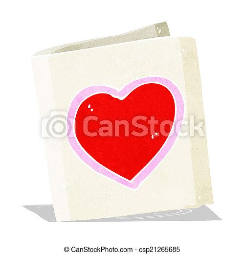 cartoon love heart card - csp21265685