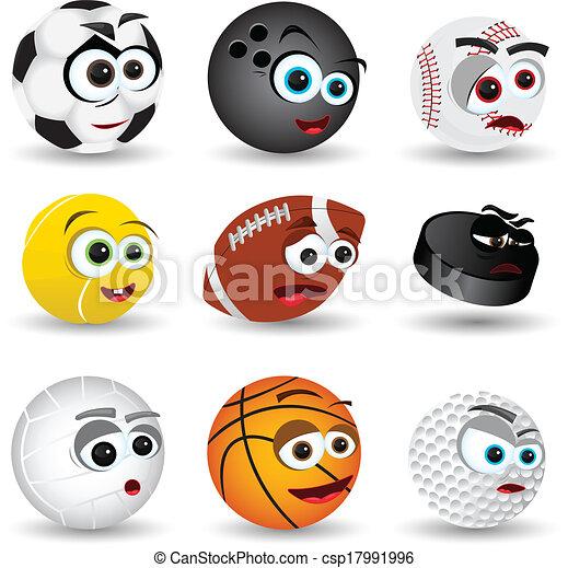 Cartoon Sport Balls - csp17991996
