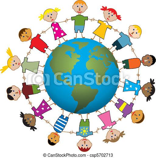 children around the world - csp5702713