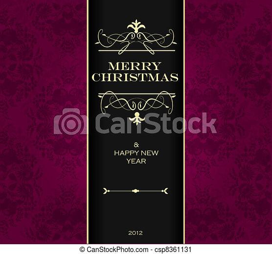 Christmas invitation card. - csp8361131