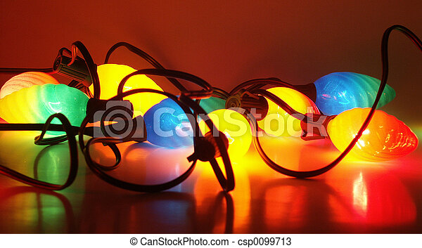Christmas lights on - csp0099713