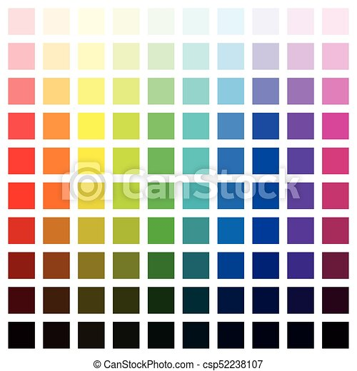 Color Spectrum Hundred Different Colors - csp52238107