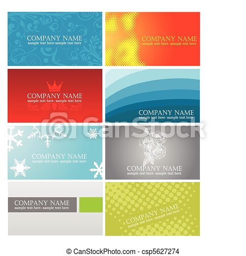 colorful business cards - csp5627274