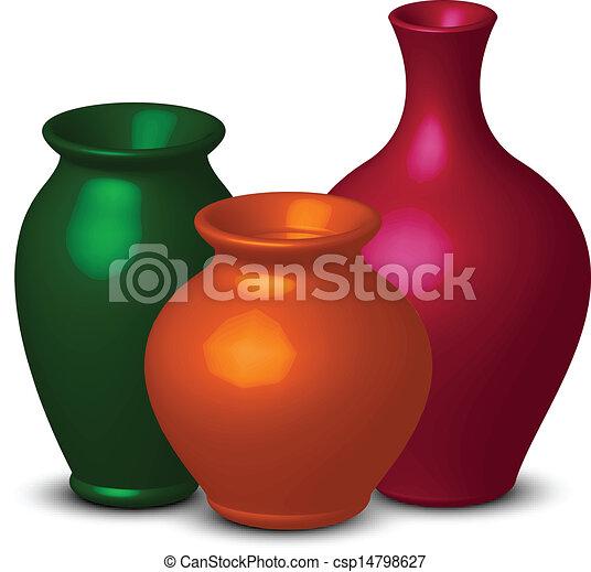 colorful vases - csp14798627